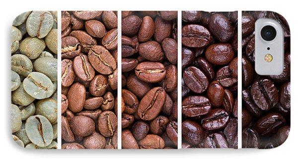 Grades Of Coffee Roasting Phone Case by Jane Rix