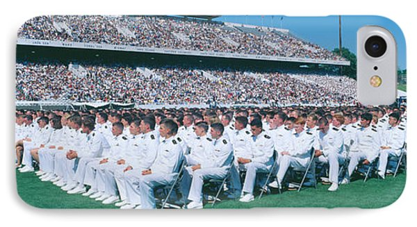 Graduation At Naval Academy, Annapolis IPhone Case by Panoramic Images