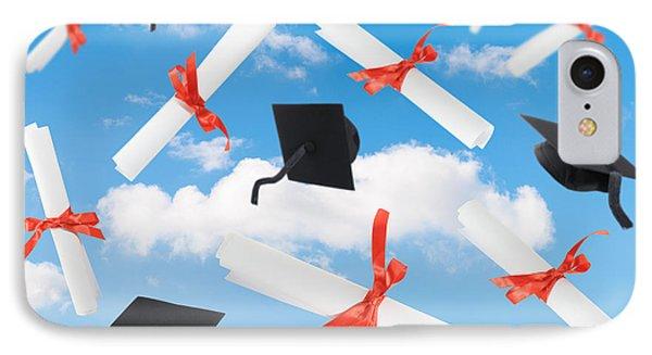 Graduation Caps And Scrolls IPhone Case by Amanda Elwell