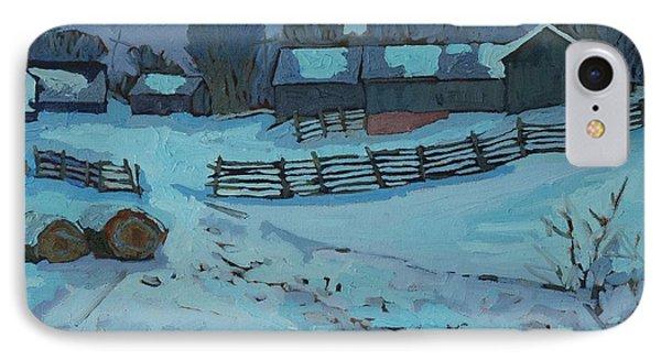 Grady Road Farm IPhone Case by Phil Chadwick