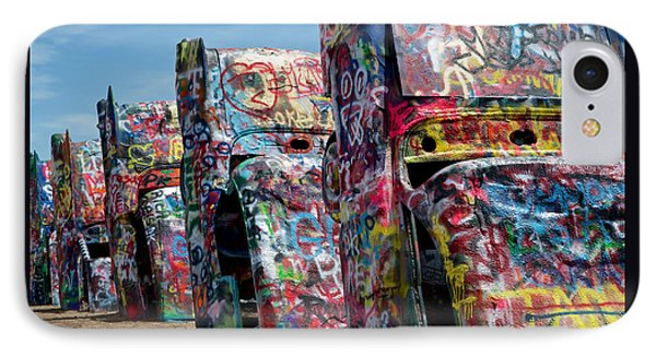 Graffiti At The Cadillac Ranch Amarillo Texas IPhone Case by Mary Lee Dereske