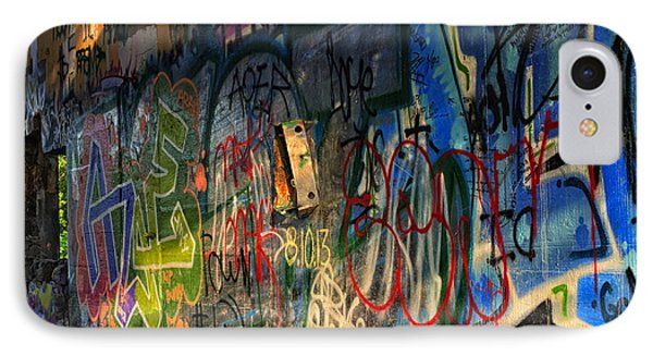 Graffiti Blues IPhone Case by Terry Rowe