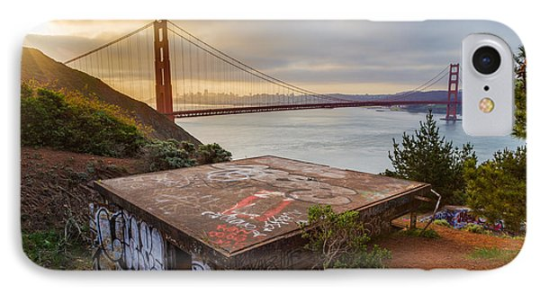Graffiti By The Golden Gate Bridge IPhone Case by Sarit Sotangkur