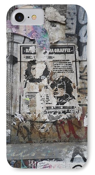 Graffiti In New York City Che Guevara Mussolini  IPhone Case