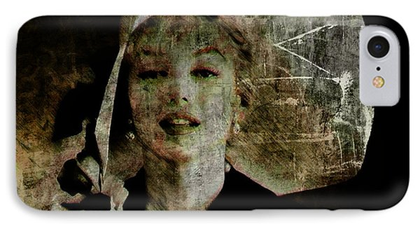 IPhone Case featuring the digital art Graffiti On Marilyn by Kim Gauge