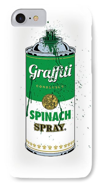 Graffiti Spinach Spray Can IPhone Case