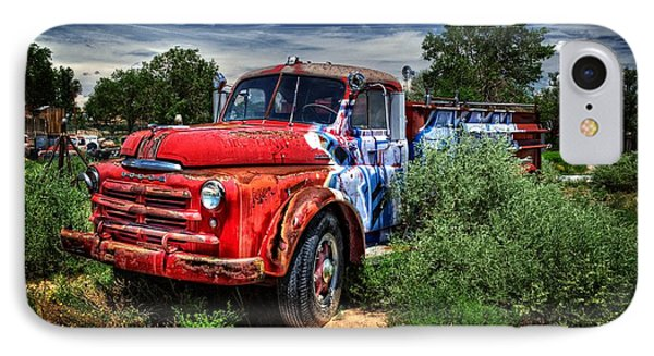 IPhone Case featuring the photograph Grafitti Fire Truck by Ken Smith