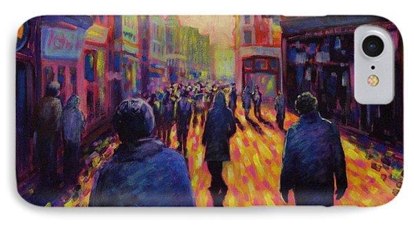 Grafton Street Dublin Phone Case by John  Nolan