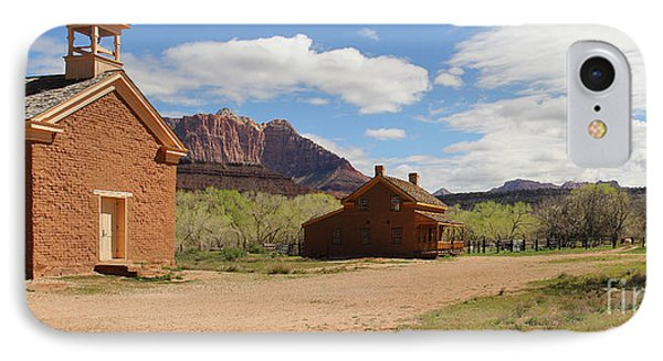 Grafton Utah Butch Cassidy Movie Set Panorama IPhone Case by Jack Schultz