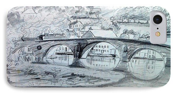 Graignamanagh Bridge River Barrow  Kilkenny Ireland  IPhone Case by Trudi Doyle