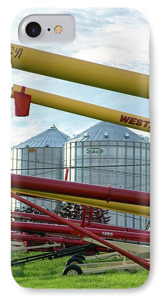 Grain Augers And Silos IPhone Case by Jim West