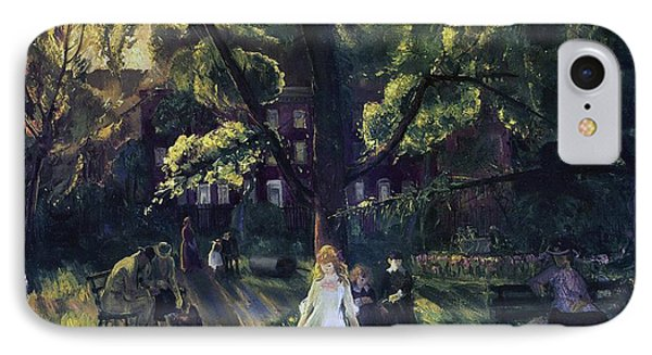 Gramercy Park IPhone Case by George Wesley Bellows