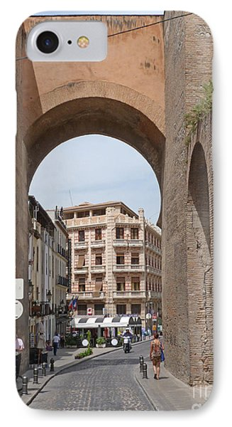 Granada Old City Gateway IPhone Case by Phil Banks