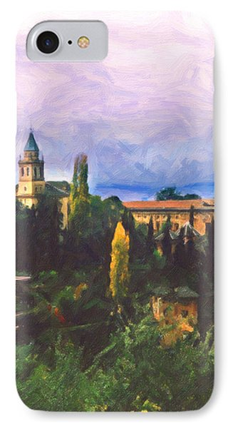IPhone Case featuring the digital art Granada Through The Keyhole by Spyder Webb