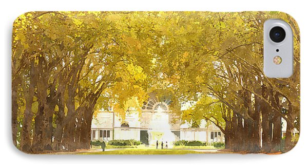 Grand Allee Ceremonial Avenue At Carlton Gardens IPhone Case by Beverly Claire Kaiya