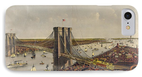 Grand Birds Eye View Of The Great East River Suspension IPhone Case