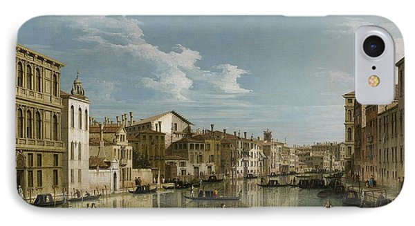 Grand Canal From Palazzo Flangini To Palazzo Bembo IPhone Case by Canaletto