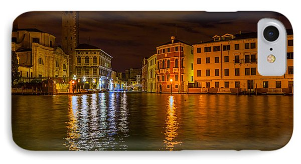 Grand Canal In Venice At Night IPhone Case by Paul Cowan