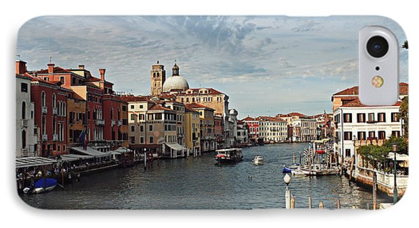 IPhone Case featuring the photograph Grand Canal In Venice by Cendrine Marrouat