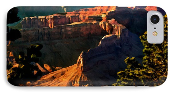 Grand Canyon At Sunset IPhone Case by Bob and Nadine Johnston