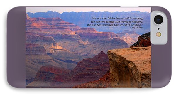 Grand Canyon Billy Graham IPhone Case