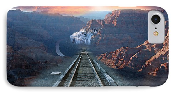 IPhone Case featuring the photograph Grand Canyon Collage by Gunter Nezhoda