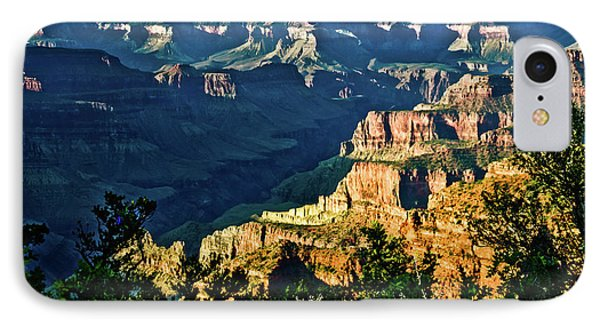 IPhone Case featuring the photograph Grand Canyon  Golden Hour On Angel Point by Bob and Nadine Johnston
