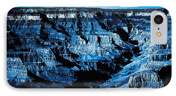 IPhone Case featuring the digital art Grand Canyon In Blue by Bartz Johnson