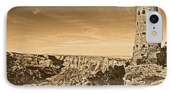 Grand Canyon National Park Mary Colter Designed Desert View Watchtower Rustic Phone Case by Shawn O'Brien