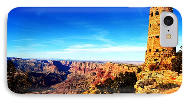 Grand Canyon National Park Mary Colter Designed Desert View Watchtower Vivid Phone Case by Shawn O'Brien