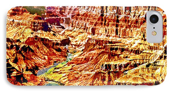 Grand Canyon Navajo Painting IPhone Case by Bob and Nadine Johnston