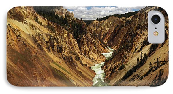 Grand Canyon Of The Yellowstone IPhone Case by Michel Hersen