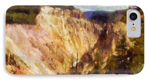 IPhone Case featuring the painting Grand Canyon Of Yellowstone 2 by Kai Saarto