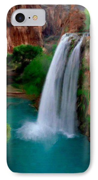 IPhone Case featuring the painting Grand Canyon Waterfalls by Bruce Nutting