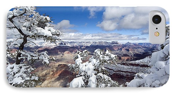 Grand Canyon Winter - 1 IPhone Case