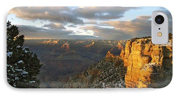 Grand Canyon. Winter Sunset Phone Case by Ben and Raisa Gertsberg