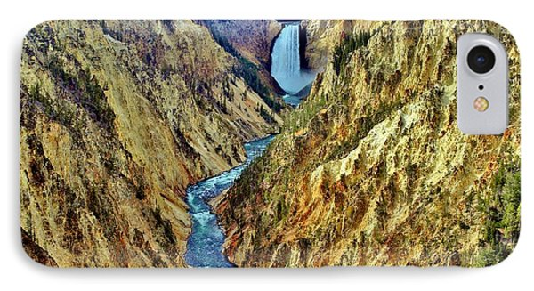 IPhone Case featuring the photograph Grand Cayon Of The Yellowstone River by Benjamin Yeager