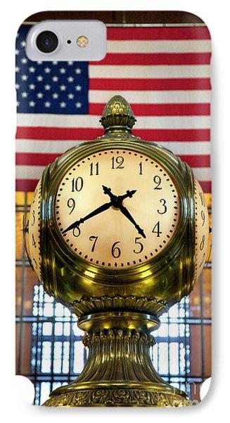 Grand Central Clock Phone Case by Brian Jannsen