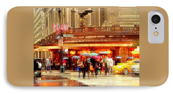 Grand Central Station In The Rain - New York IPhone Case by Miriam Danar