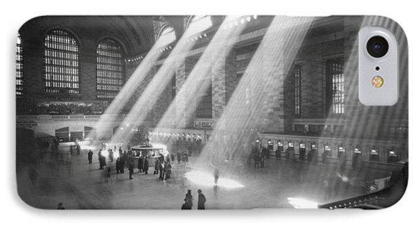 Grand Central Station Sunbeams IPhone Case by Underwood Archives