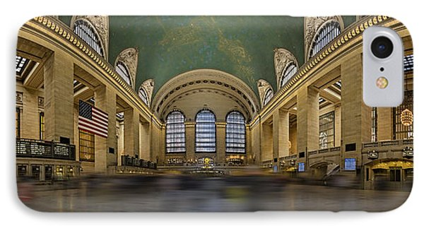 Grand Central Terminal 180 Panorama  IPhone Case by Susan Candelario