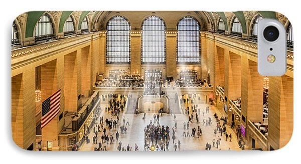 Grand Central Terminal Birds Eye View I IPhone Case by Susan Candelario