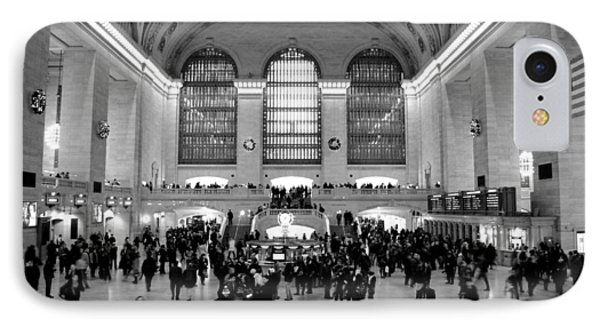 Grand Central Terminal Black And White IPhone Case by Robert  Moss
