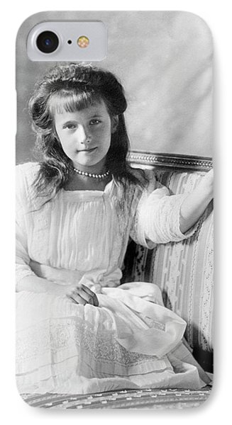 Grand Duchess Anastasia Of Russia IPhone Case by Library Of Congress