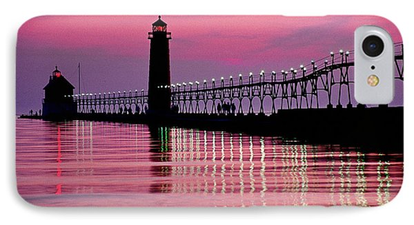 Grand Haven Light Phone Case by Dennis Cox WorldViews