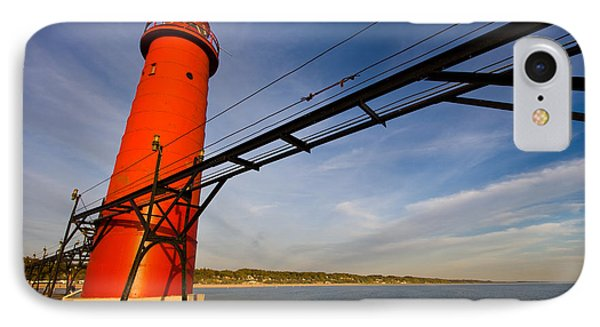 Grand Haven Lighthouse IPhone Case by Adam Romanowicz