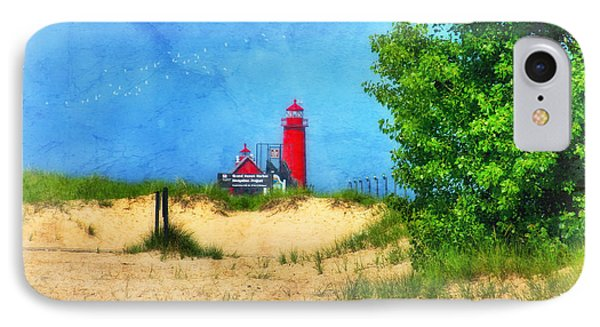 Grand Haven Lighthouse IPhone Case by Joan Bertucci