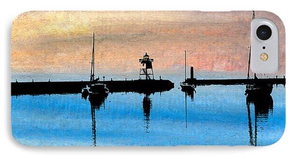 Grand Marais Harbor IPhone Case by R Kyllo