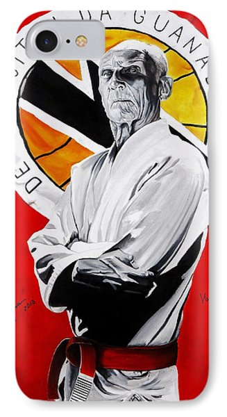 Grand Master Helio Gracie IPhone Case by Brian Broadway