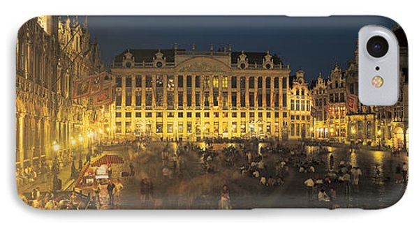 Grand Place Brussels Belgium IPhone Case by Panoramic Images